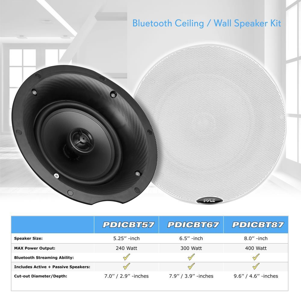 "New Pyle PDICBT67 Dual Bluetooth Ceiling/Wall 6.5"" Speaker Kit 300-watt With 2F 68888772440"