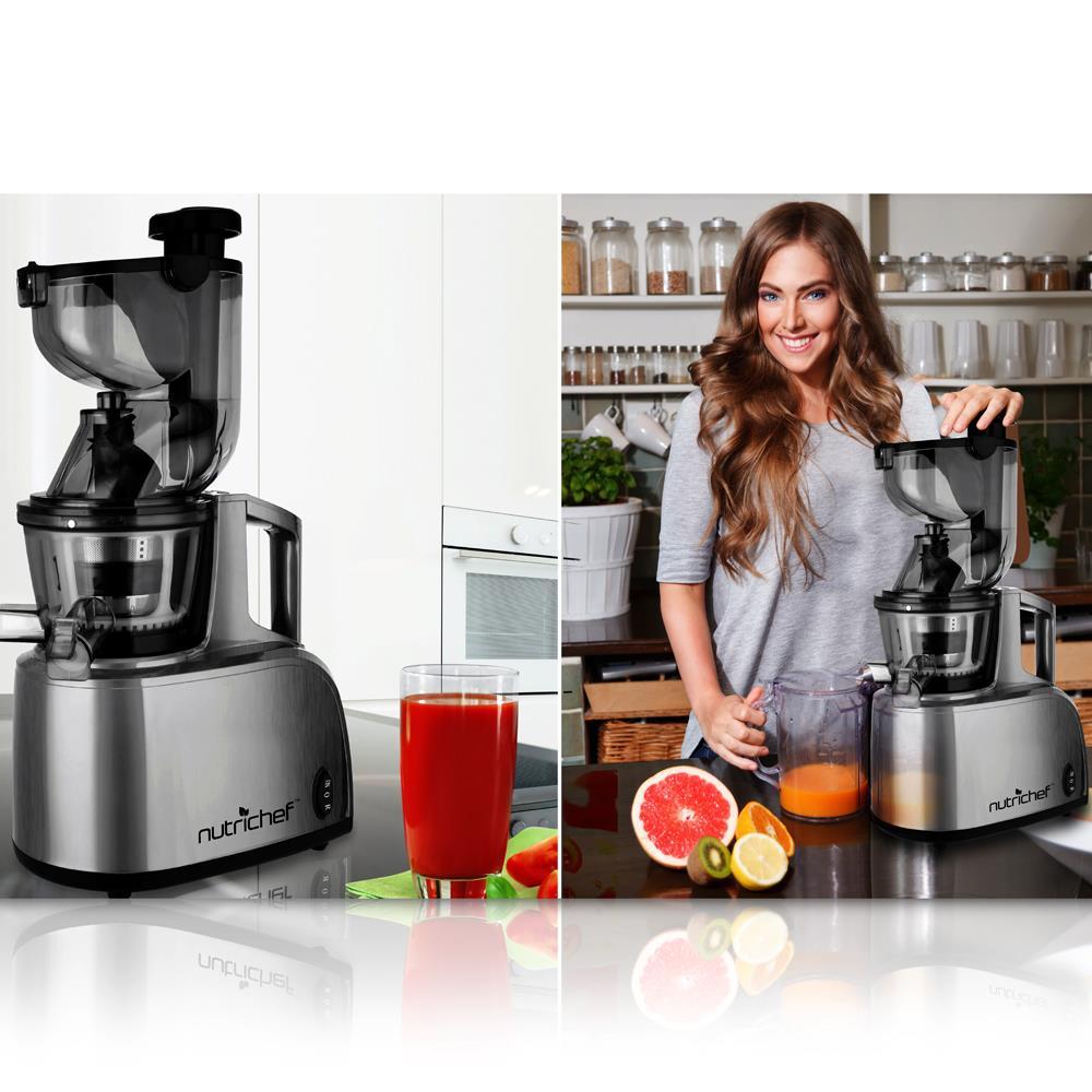 Slow Juicer Drink : NEW Pyle PKSJ40 Countertop Masticating Slow Juicer / Juice & Drink Maker eBay