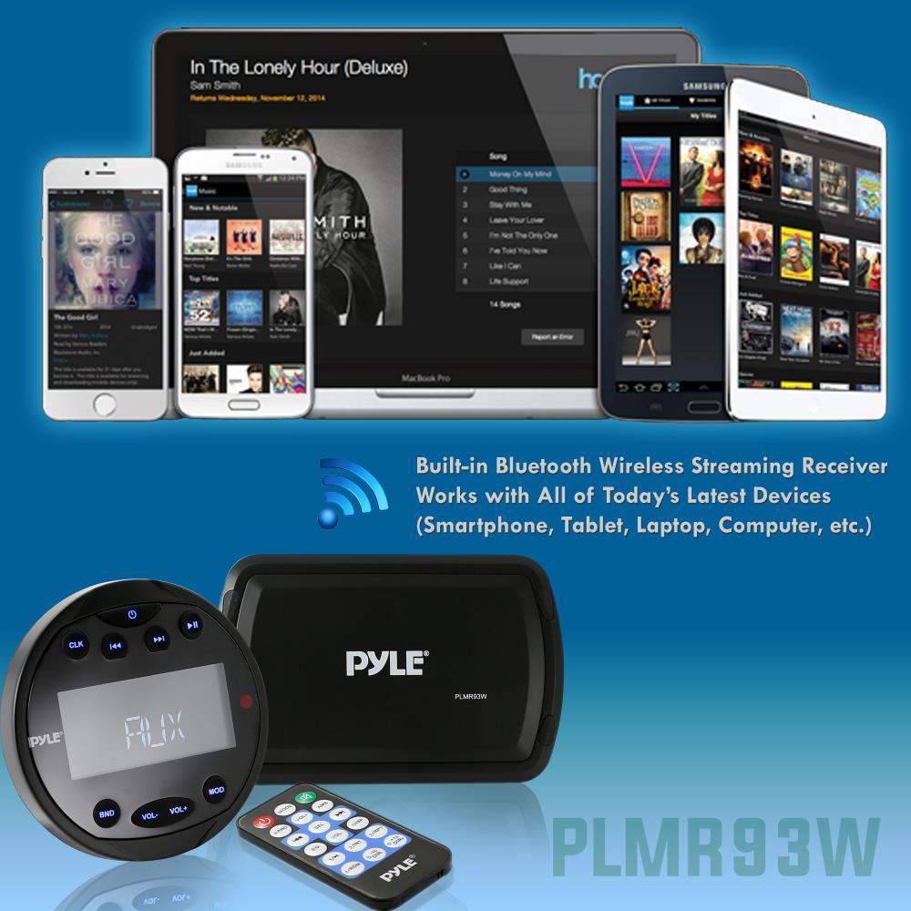 Pyle NEW! PLMR93W Bluetooth Marine Stereo Radio Receiver System ...