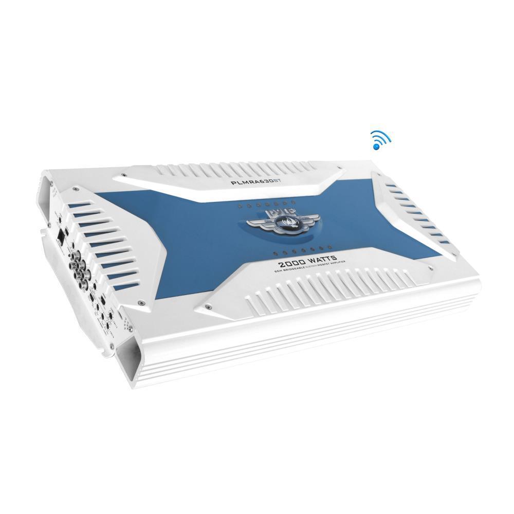 PLMRA410BT Marine Yacht Waterproof Bluetooth Amplifier 400 Watt 4-Channel Amp