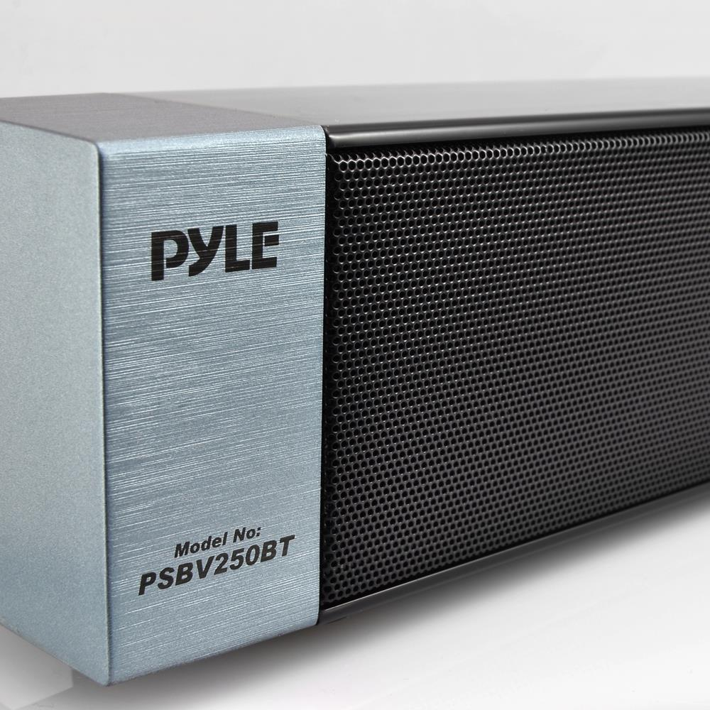 NEW Pyle PSBV250BT Bluetooth Stereo SoundBar Digital Speaker AUX ...