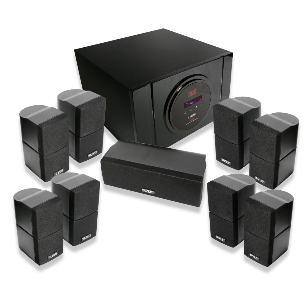 bluetooth 5 1 channel home theater system surround sound. Black Bedroom Furniture Sets. Home Design Ideas
