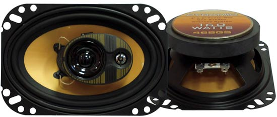 4'' X 6'' 160 Watts Three-Way Speakers