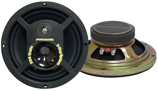 5.25'' 200 Watts Three-Way Speakers