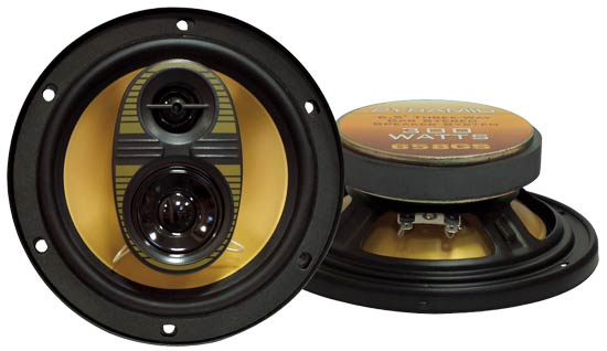 6.5'' 300 Watts Three-Way Speakers