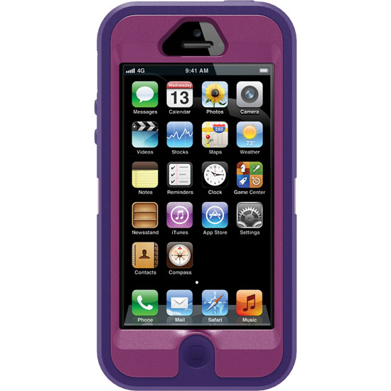 Otterbox Defender Rugged Combo Case + Holster for iPhone 5 or 5S - Purple/Boom