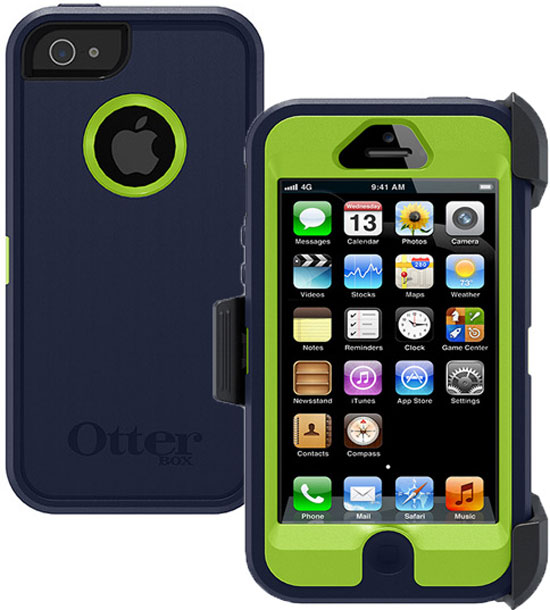 Otterbox Defender Rugged Combo Case + Holster for iPhone 5 or 5S - Admiral Blue / Green