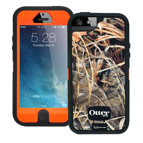 Otterbox Defender Rugged Combo Case + Holster for iPhone 5 or 5S - Realtree Camo Max 4HD Blazed