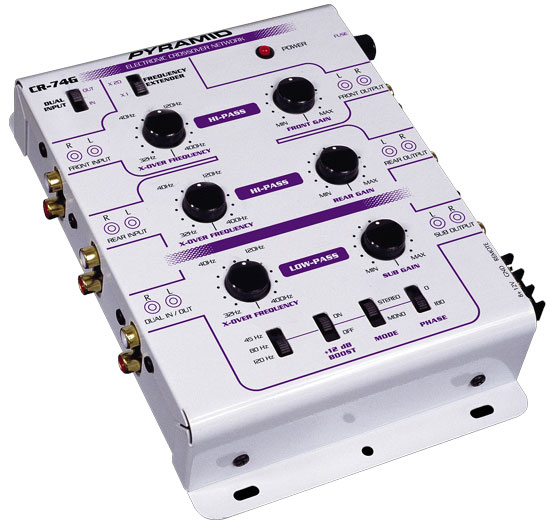 3-Way 6 Channel Electronic Crossover System