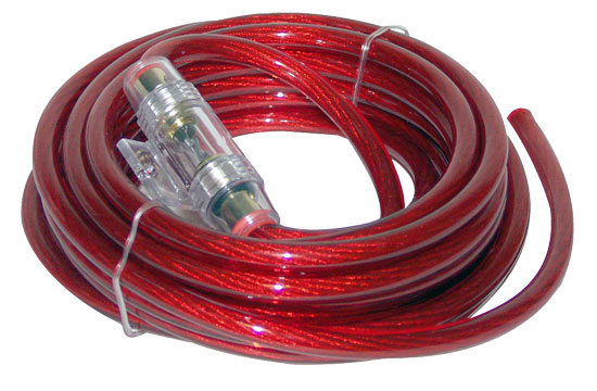 Contaq 4 Gauge 20' Power Cable & In-Line Fuse Kit