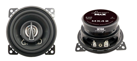 4'' 120 Watt 2-Way Coaxial Speakers