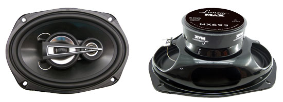 6'' x 9'' 600 Watts 3 Way Triaxial Speakers