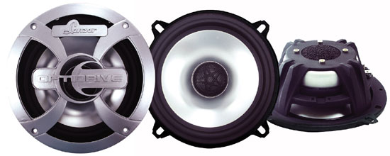 Optidrive 5.25'' 300 Watt Two-Way Coaxial Speakers