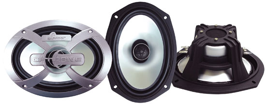 Optidrive 6''x9'' 500 Watt Two-Way Coaxial Speakers