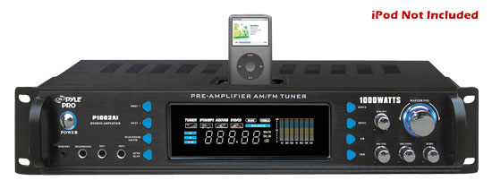 1000 Watts Hybrid Receiver & Pre-Amplifier W/AM-FM Tuner/Ipod Docking Station