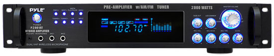 2,000 Watt Hybrid Pre-Amplifier with AM/FM Tuner - Audio Inputs & Outputs