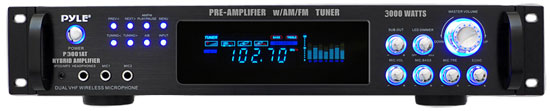 3,000 Watt Hybrid Pre-Amplifier with AM/FM Tuner - Audio Inputs & Outputs