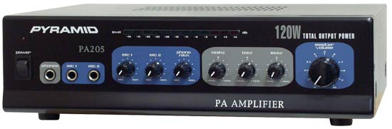 "120 Watt Microphone PA Amplifier w/70V Output ""& Mic Talkover"