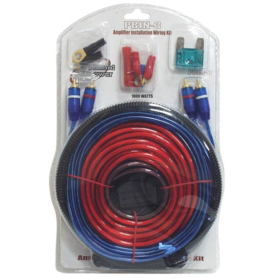 1000 Watt 20 ft. Amplifier Installation Wiring Kit