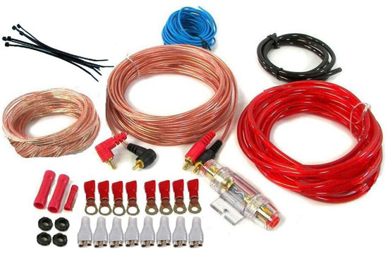 Amplifier Hookup Kit for Battery, Head Unit & Speakers