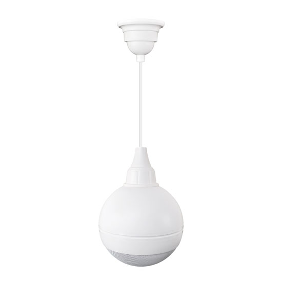 100 Watts Ceiling Hanging Mount 5'' Ball Pendent Speaker(White Color)