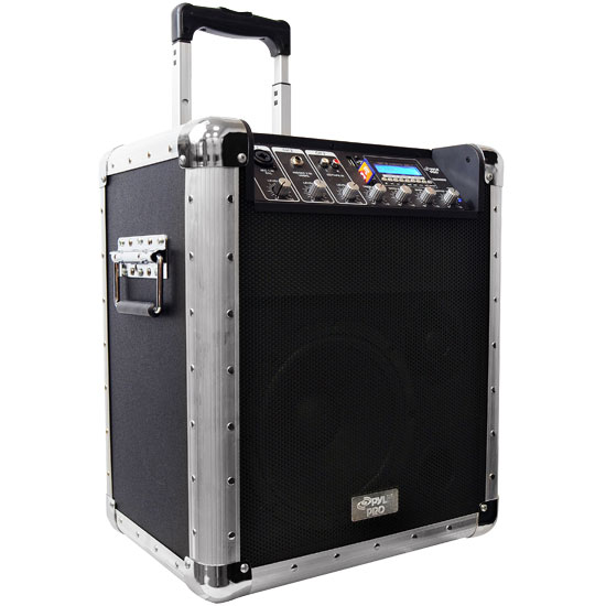 Battery Powered Portable PA System w/USB/SD/MP3 Inputs(Microphone Included)