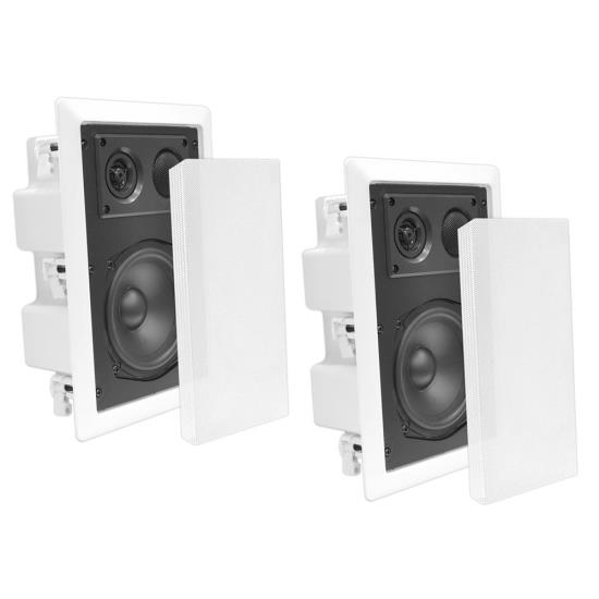 5'' Two Way In Wall Enclosed Speaker System w/ Directional Tweeter