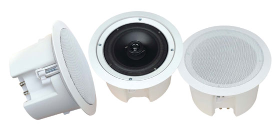 6 1/2'' In-Ceiling 2-Way Flush Mount Enclosure Speaker System