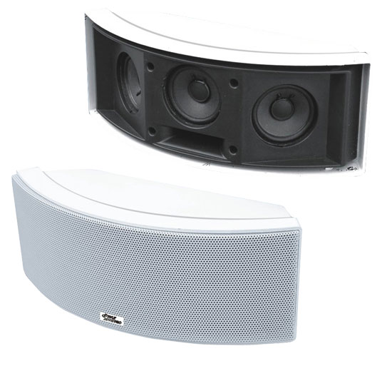 500 Watt 3 Way  Indoor/Outdoor Waterproof Center Channel Speakers (White)
