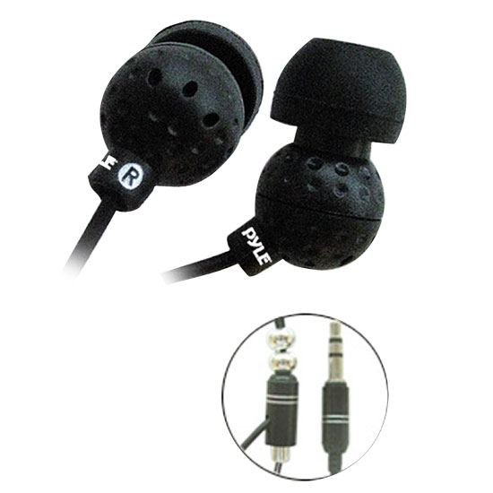 Ultra Slim In-Ear Ear-Buds Stereo Bass Headphones For Ipod/MP3/All Audio source Players (Black)