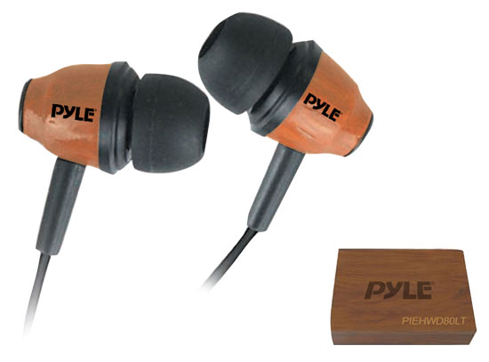 Wood-Bud Wooden In-Ear Ear-Buds Stereo Ultra Bass Headphones (Red Mahogany)