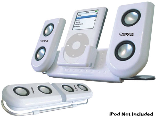 Portable Speaker System For Ipod & Any Other MP3 Player