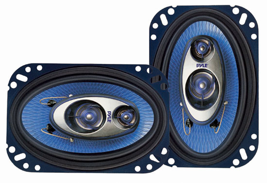 4'' x 6'' 240 Watt Three-Way Speakers