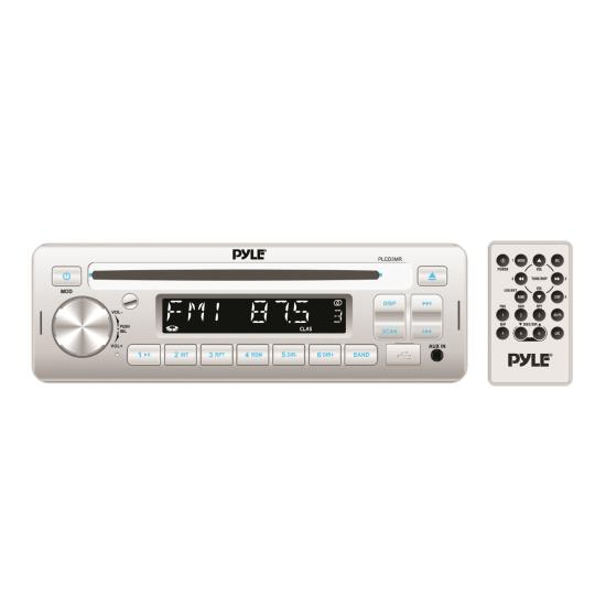 AM/FM-MPX IN -Dash Marine CD/MP3 Player/USB & SD Card Function