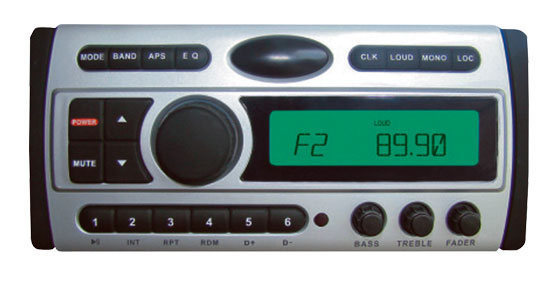 1.5-Din AM/FM Receiver / CD/CDR/MP3/AM-FM Marine Grade Player