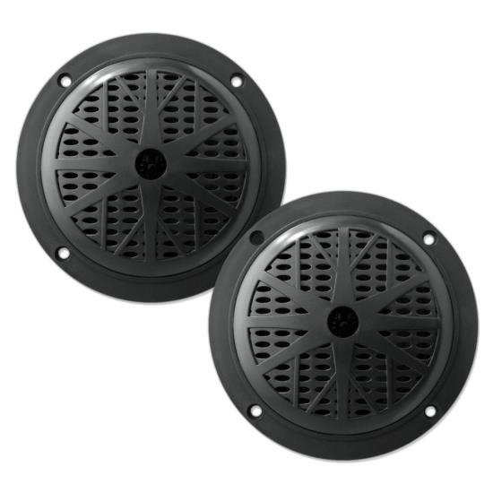 100 Watts 5.25'' 2 Way Black Marine Speakers