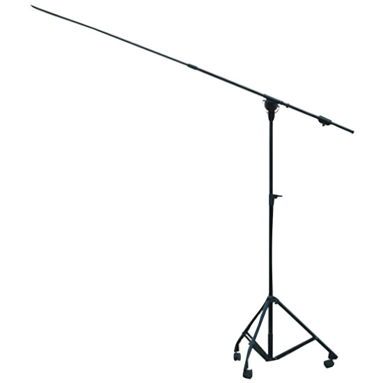 Heavy Duty Height Adjustable Boom Microphone Stand With Wheels