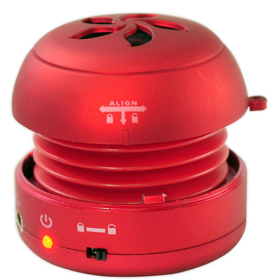Bass Expanding Rechargeable Mini Speakers for iPod/iPhone/MP3/Computer (Red)