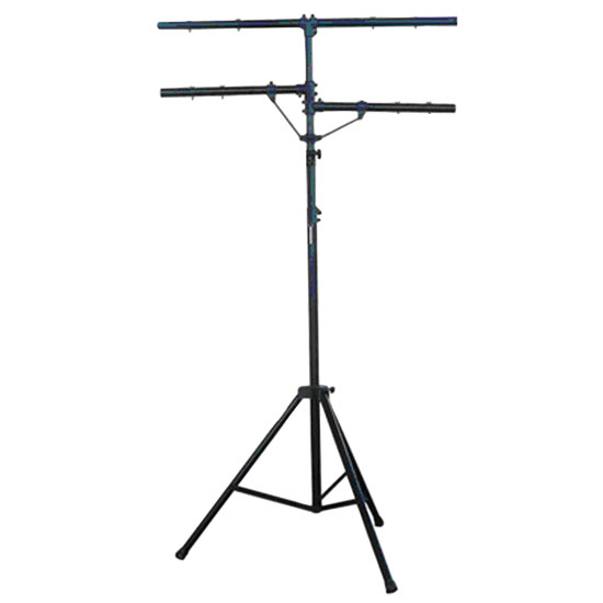 DJ Lighting Tripod Stand w/T-bar/Dual Side Bar