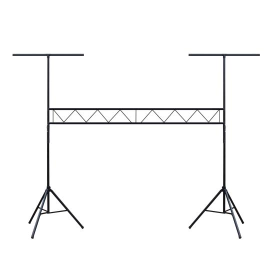 DJ Lighting Truss System with Integrated Crossbar Stand
