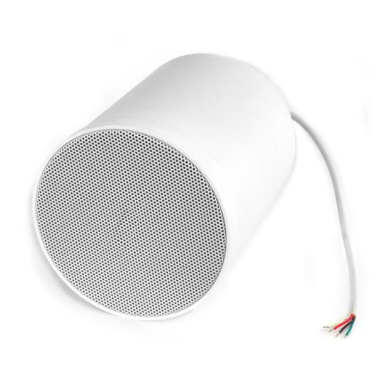 6.5'' 40 Watt Ceiling Hanging Pendant Speaker w/ 70V Transformer (White)