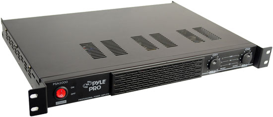 1U Rack Mount 2000 Watts Power Stereo Amplifier