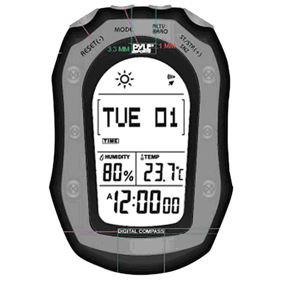 Pyle Weather Station W/ Weather Forecast, 58 World Time, Temp., Altimeter, Barometer, Digital Compass (Black Color) at Sears.com