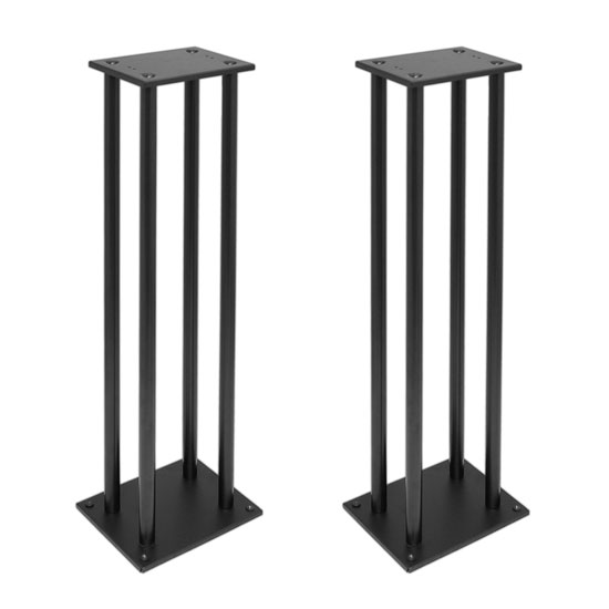 One Pair of Heavy-Duty Steel Triple Support Bookshelf / Monitor Speaker Stand