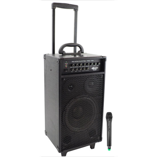 800 Watt VHF Wireless Portable PA System/Echo w/iPod Dock