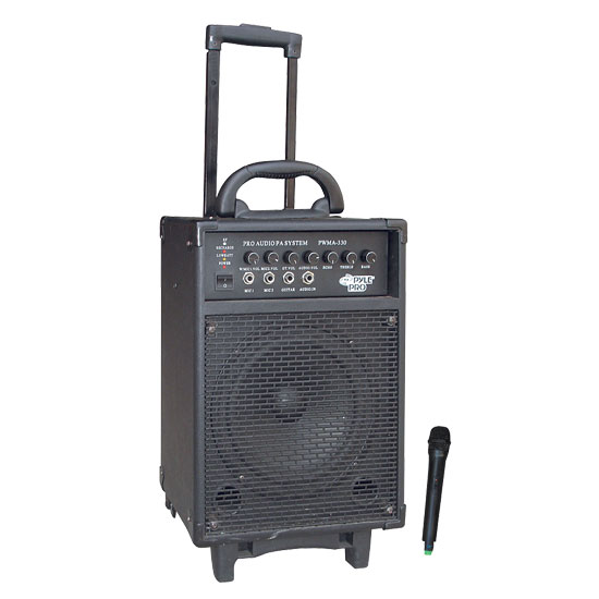 300 Watt VHF Wireless Battery Powered PA System W/Echo