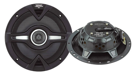 Vector 6.5'' 200 Watts 2-Way Slim Speakers