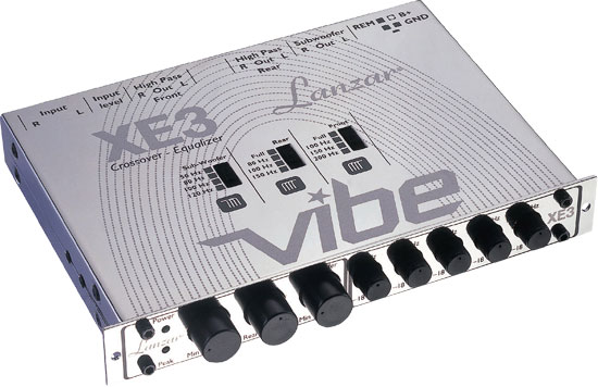 Vibe Half DIN In-Dash 3 Way Electronic Crossover/5 Band Equalizer